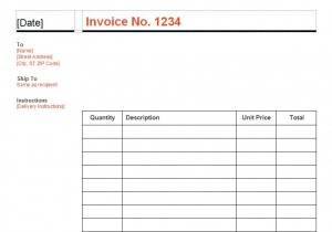 Business Invoice Template screenshot