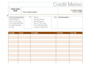 Credit Memo Template  Credit Memo Sample