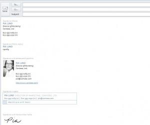 Email Signature Template screenshot