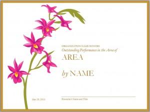 Screenshot of the Employee Award Template