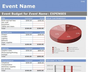 Event Budget Template Event Budget Worksheet Template Haven