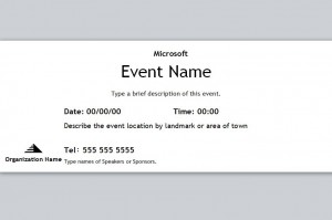 Ticket with the Event Ticket Template