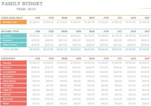 year budget template