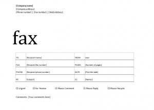 Screenshot Of The Fax Cover Sheet Template  Fax Template In Word