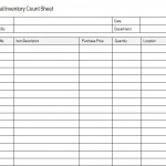 Inventory Count Sheet