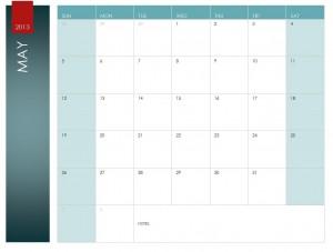 May calendar template screenshot