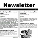 screenshot of the free Newsletter Template