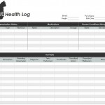 Screenshot of the Pet Health Record Template