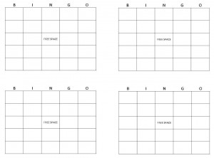 Screenshot of the Printable Bingo Cards