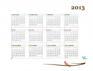 Printable Calendar Template screenshot