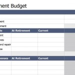 Screenshot of the Retirement Budget Worksheet