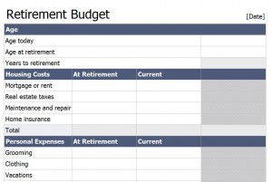 Worksheets Retirement Expenses Worksheet retirement worksheet delibertad budget template
