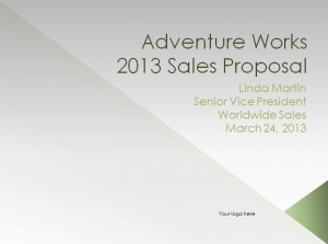 Screenshot of the Sales Proposal Template