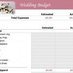 Screenshot of the Wedding Checklist Template