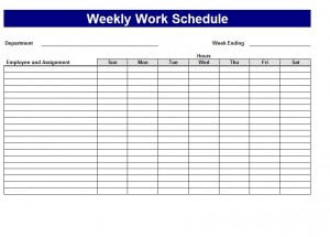 Work Schedule Template screenshot.