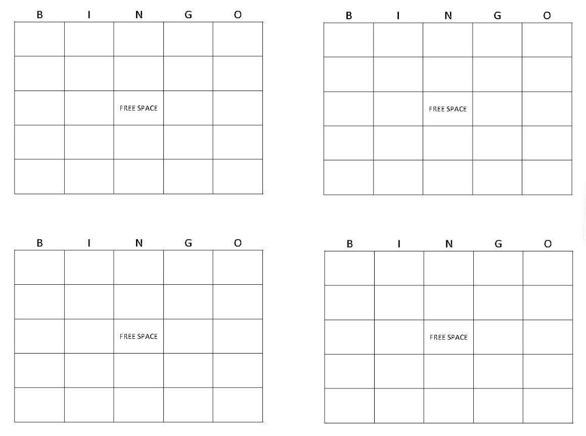 Bingo Card Maker  Make Bingo Cards » Template Haven Inside Blank Bingo Card Template Microsoft Word