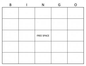 Screenshot of the Bingo Card Template