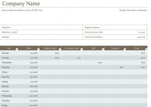 Photo of the Biweekly Timesheet Template