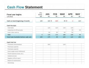 Cash Flow Statement screenshot