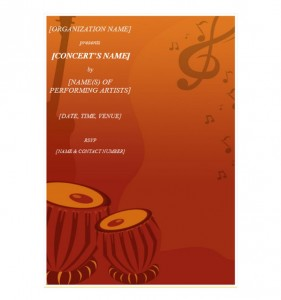 Concert Invitation Template photo