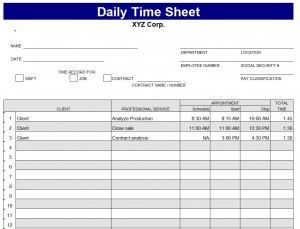 Daily Timesheet Template | Daily Timesheet Template Excel ...