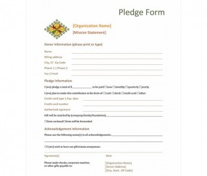 donation forms for non profit organizations