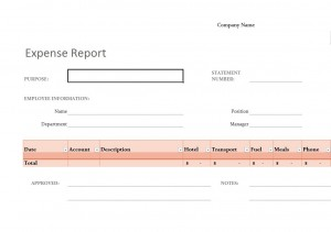 Photo of the Expense Report Template
