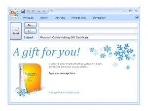 Photo of the Gift Certificate Email Template