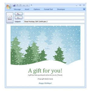 Photo of the Holiday Email Template