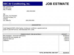 job estimate template estimate excel template template. Black Bedroom Furniture Sets. Home Design Ideas