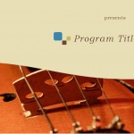 Music Program Template