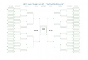 Screenshot of the free NCAA basketball tournament bracket.