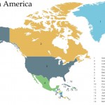 Screenshot of the North America Map Template
