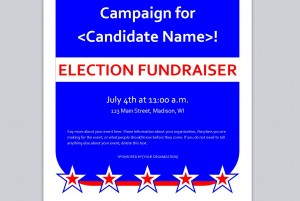 Screenshot of the Political Flyer Template