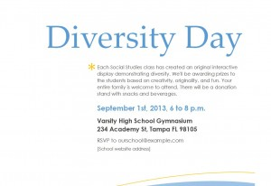 Screenshot of the School Event Flyer Template