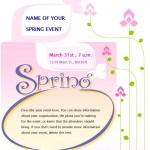 Spring Event Flyer screenshot