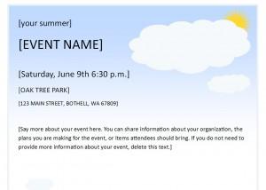Summer Event Flyer Template screenshot