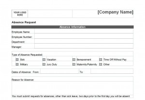 Screenshot of the Time Off Request Form