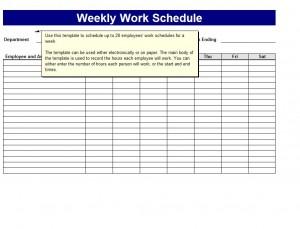 work schedule templates free