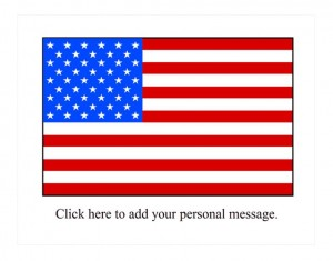 Free American Flag Window Decal