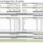 Screenshot of the Biweekly Budget Template