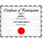 Screenshot the Certificate of Participation Template