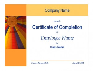 Certificate of training completion template template haven for Spot award certificate template