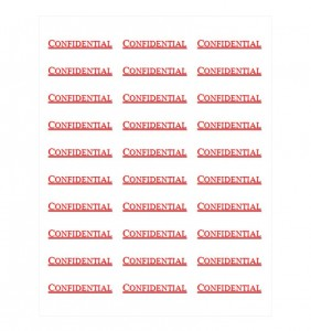 Free Confidential Labels