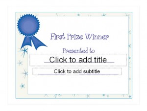 Superb The First Place Award Template Available On This Page Is Very Easy To Use  And Can Be Customized Very Easily. It Is Versatile Enough To Work For Many  ...