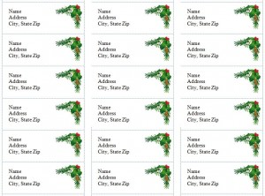 Free Holiday Address Labels