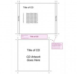 Screenshot of the Jewel Case Insert Template