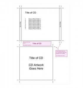 Screenshot of the Jewel Case Template