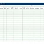 Medication Log Template screenshot