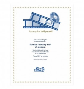 Free Movie Party Invitations